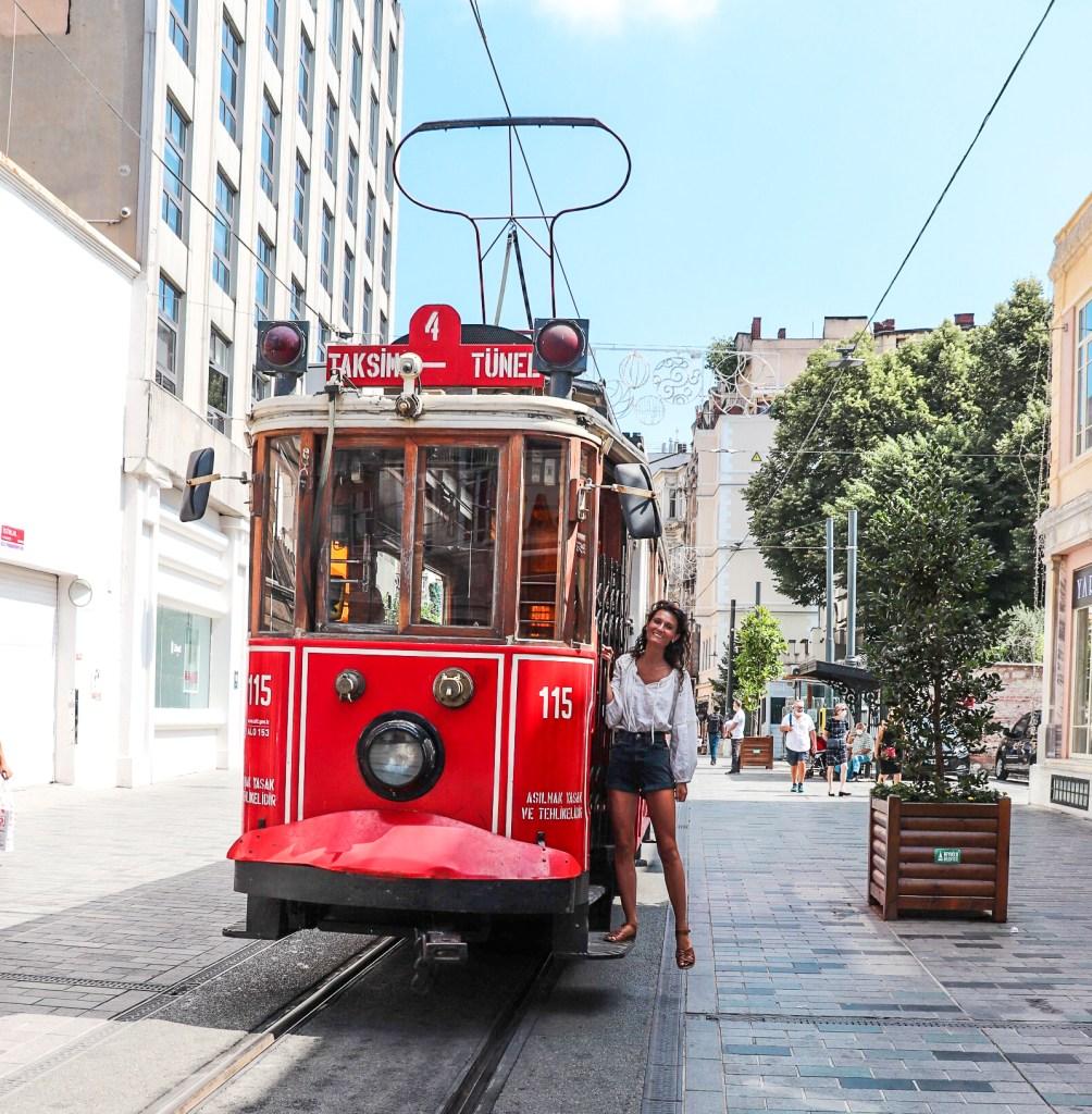 Galata/Karakoy. Vintage Tram Taksim Square