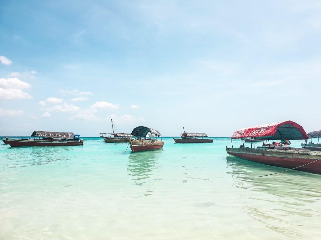 Boats in Zanzibar Itinerary
