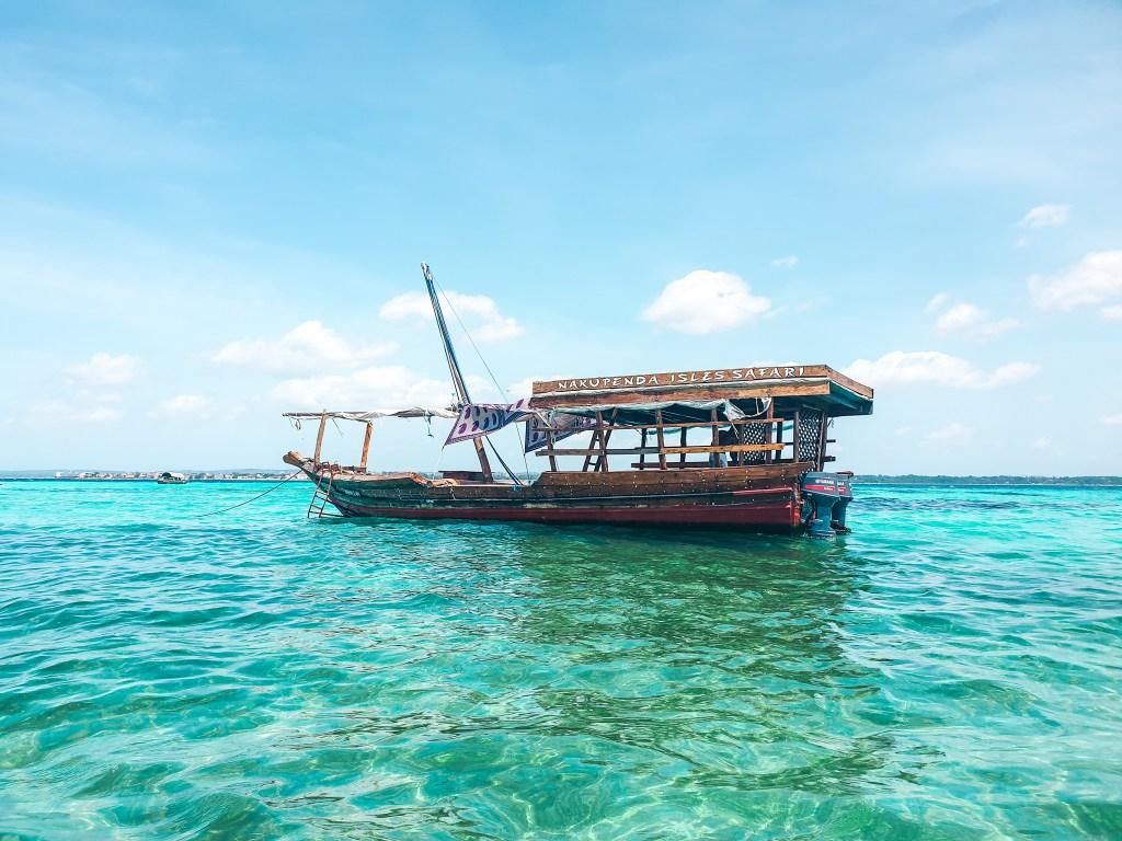 Nakupenda Island Zanzibar Boat