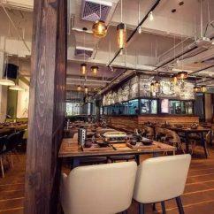 Kitchen Table Legs Inexpensive Flooring Options For 烧烤店设计成这样,瞬间提高了几个档次! - Colorful Toronto