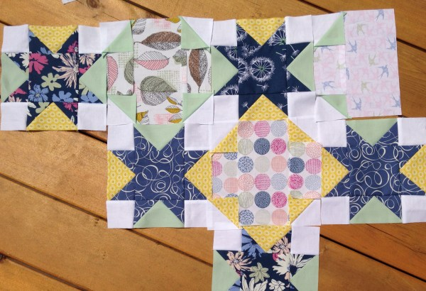 Quilt In Progress With Sketchbook Fabrics - Color Girl