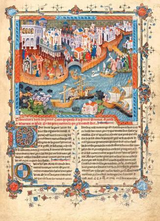 Una pagina de 'Il romanzo di Alessandro Magno e i viaggi di Marco Polo' riprodotto in facsimile e presentato nella sede dell'Istituto Treccani. Roma, 21 luglio 2014. ANSA/ US TRECCANI +++ NO SALES - EDITORIAL USE ONLY +++
