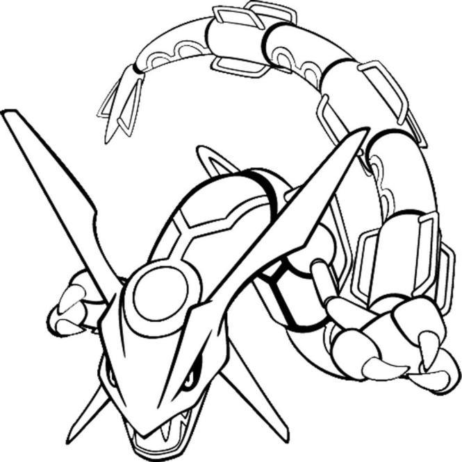 Coloriage A Imprimer Pokemon Mega Rayquaza Coloriage Imprimer