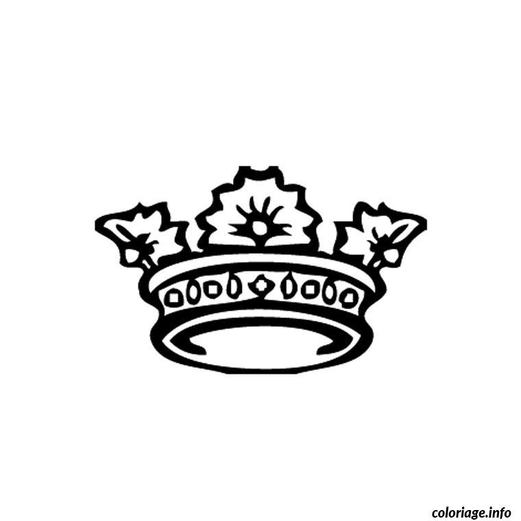 dessin à imprimer: dessin de couronne de princesse a imprimer