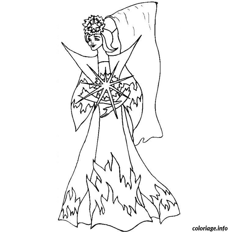 Coloriage Fee Princesse dessin