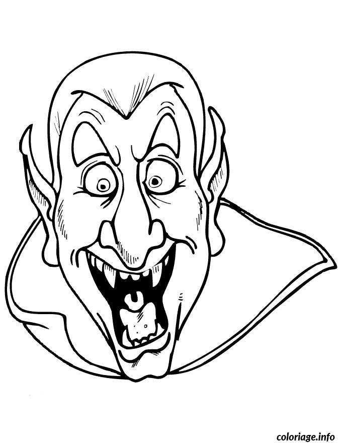 Coloriage Halloween Dracula dessin