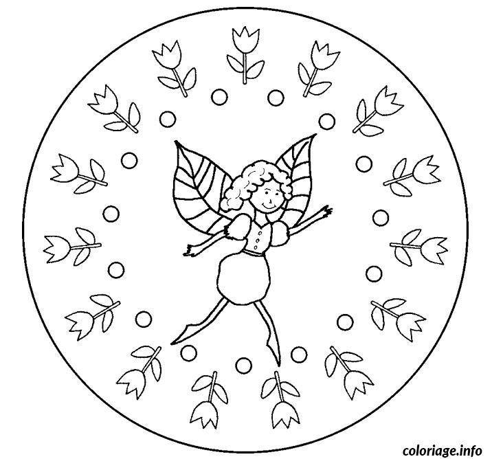 Coloriage Mandala Fee dessin