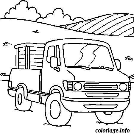 Coloriage Voiture Camion dessin