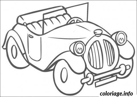 Coloriage Image Voiture Ancienne dessin