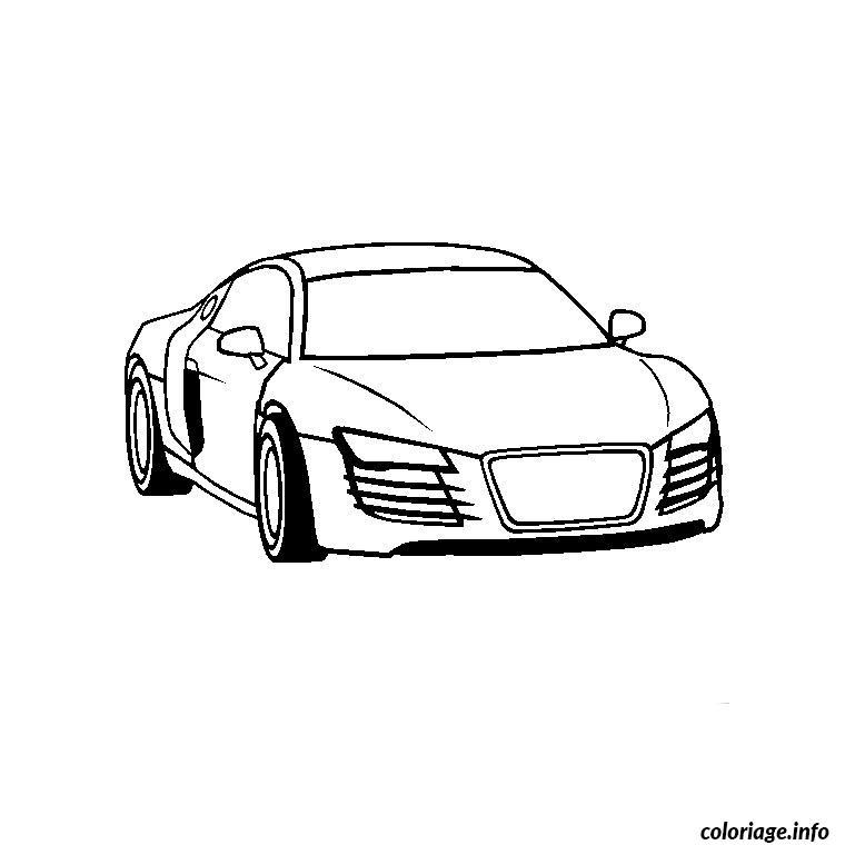 Coloriage Audi R8 dessin