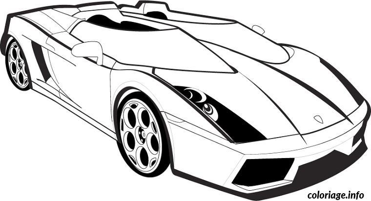 Coloriage Voiture Lamborghini Dessin A Imprimer
