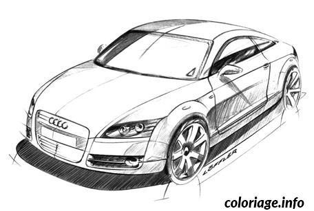 Coloriage Image Voiture Audi dessin