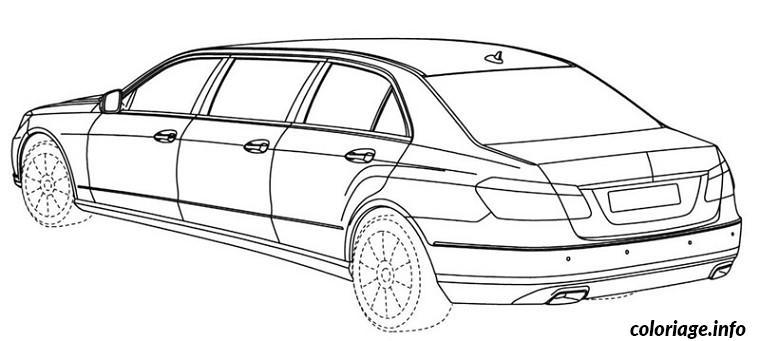 Coloriage Voiture Limousine dessin