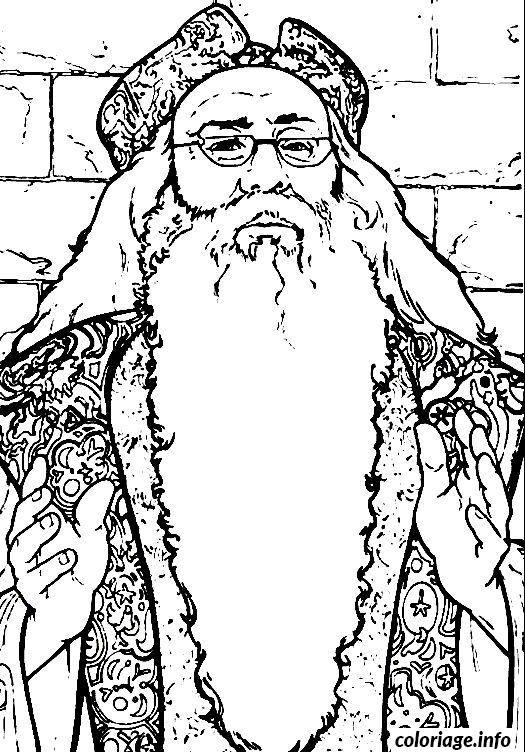 Coloriage Dumbledore Dessin Harry Potter à imprimer