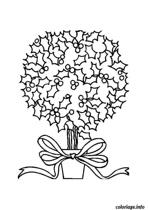 Coloriage Simple Sapin En Pot U00e0 Imprimer Dans Les