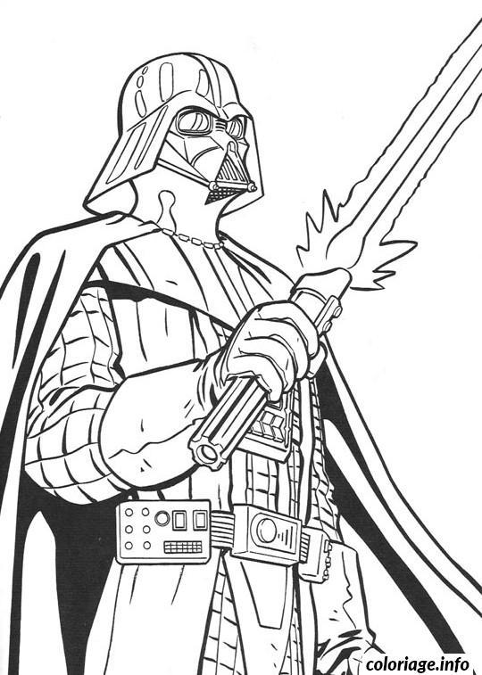 Coloriage Star Wars Le Cote Obscur De La Force dessin
