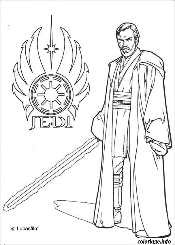 Coloriage Star Wars Jedi Logo dessin