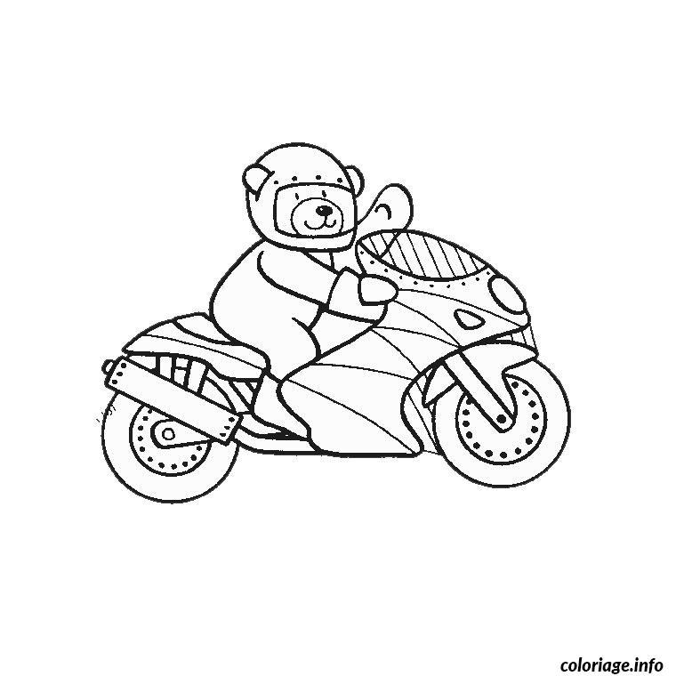 Coloriage Moto Gp dessin