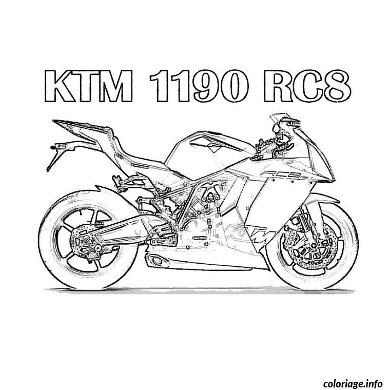 Coloriage Moto Ktm dessin