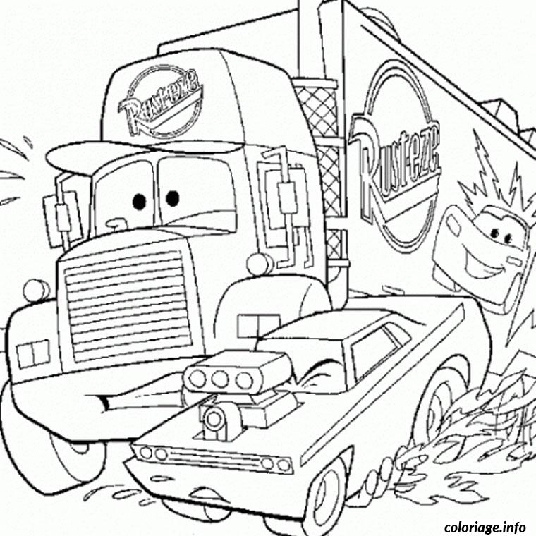 Disney Cars Mack Coloring Pages Coloring Pages