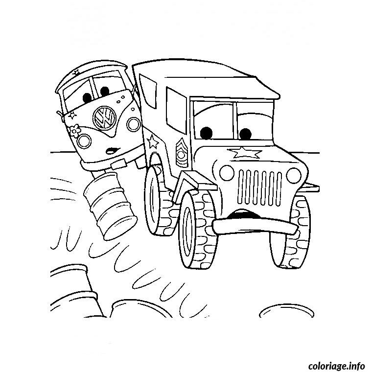 Coloriage Camion Cars dessin