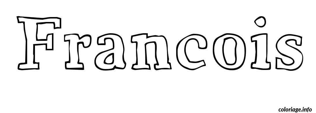 Coloriage Francois dessin