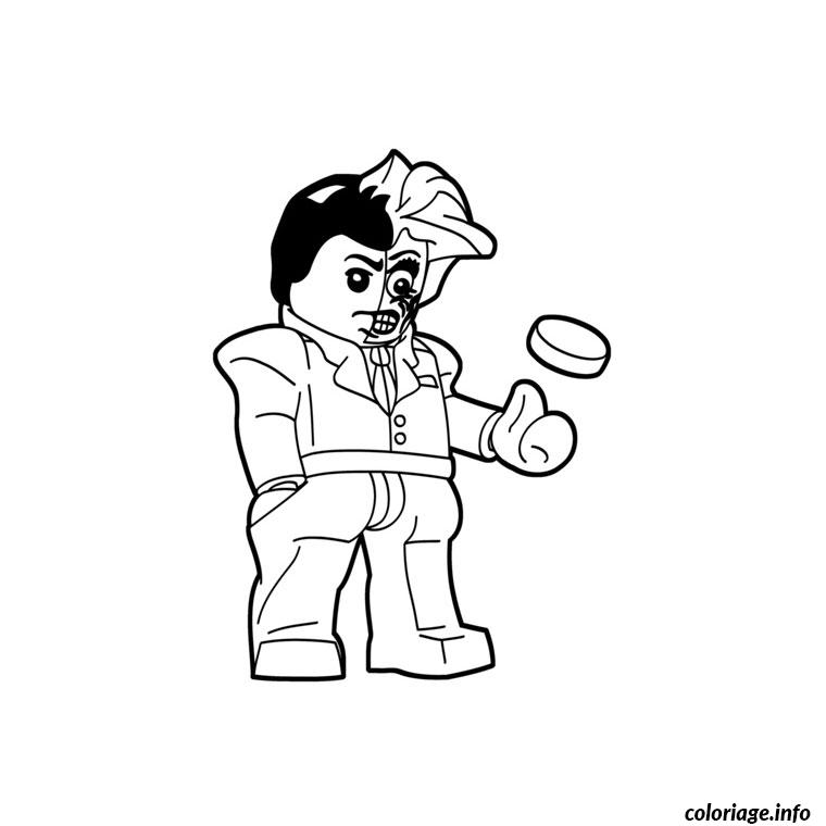 Coloriage Lego Batman 2017 Double Face dessin