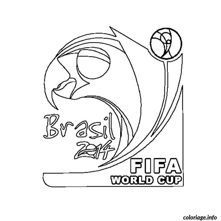 Coloriage Coupe Du Monde 2014 Dessin Foot à imprimer