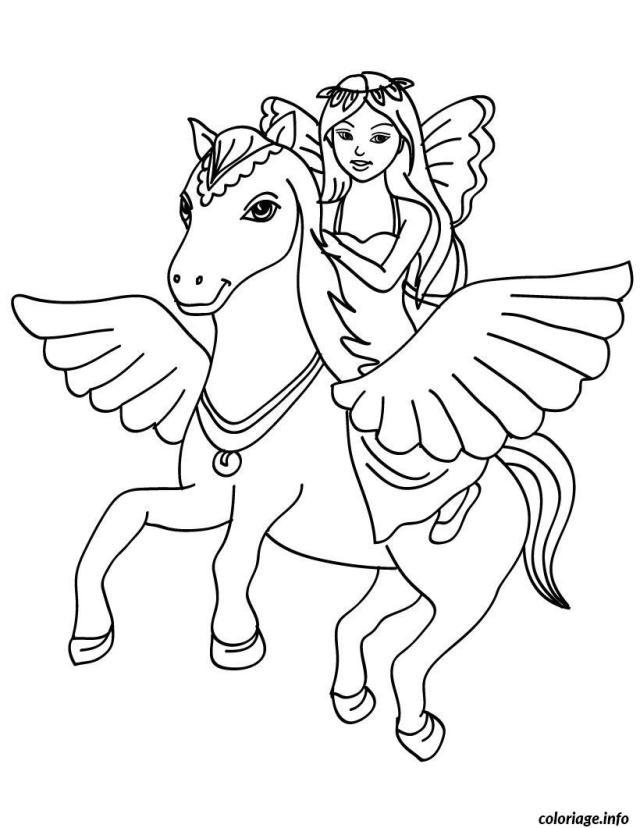Coloriage Magique Princesse Sur Un Poney Dessin Magique à imprimer