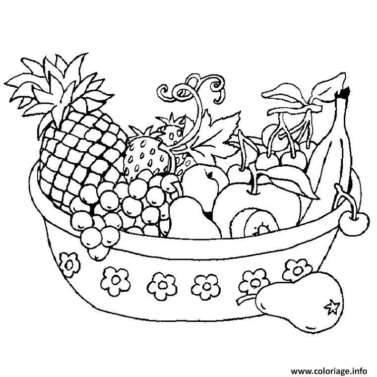 Coloriage Maternelle Fruits Et Legumes.Coloriage Legumes Fruits Dessin