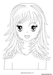 coloriage fille manga 38 dessin
