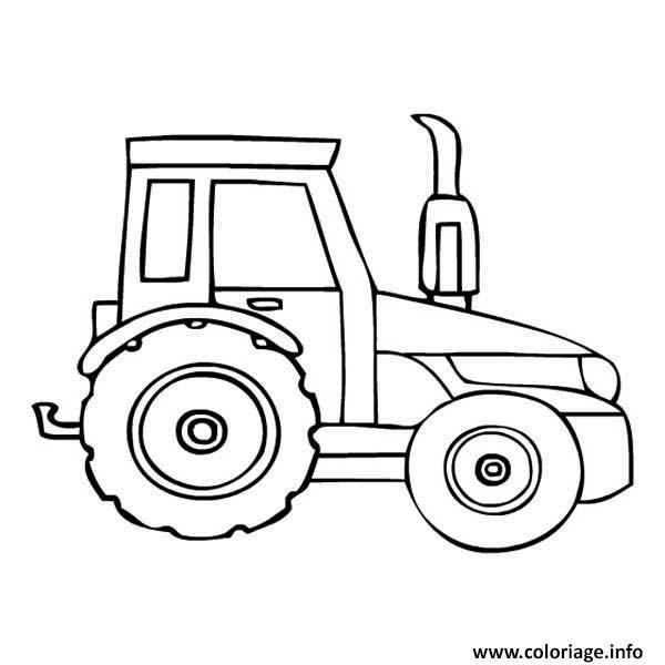 Coloriage Tracteur Moderne Agricole dessin