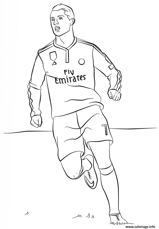 Coloriage Cristiano Ronaldo Foot dessin