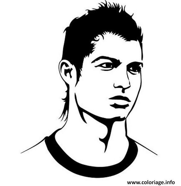 Coloriage Cristiano Ronaldo Visage Cr Portugal Real Madrid Dessin A Imprimer