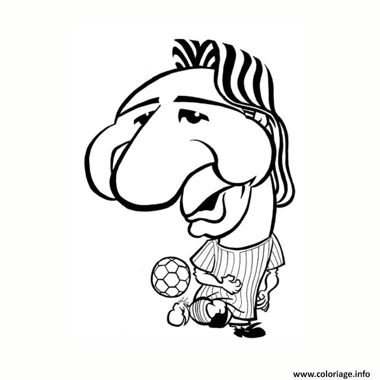 Coloriage Dessin Lionel Messi Drole Humour Dessin A Imprimer