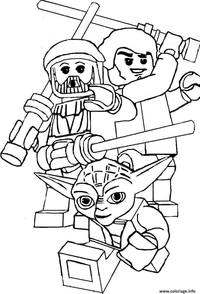 Coloriage Lego Star Wars Yoda dessin