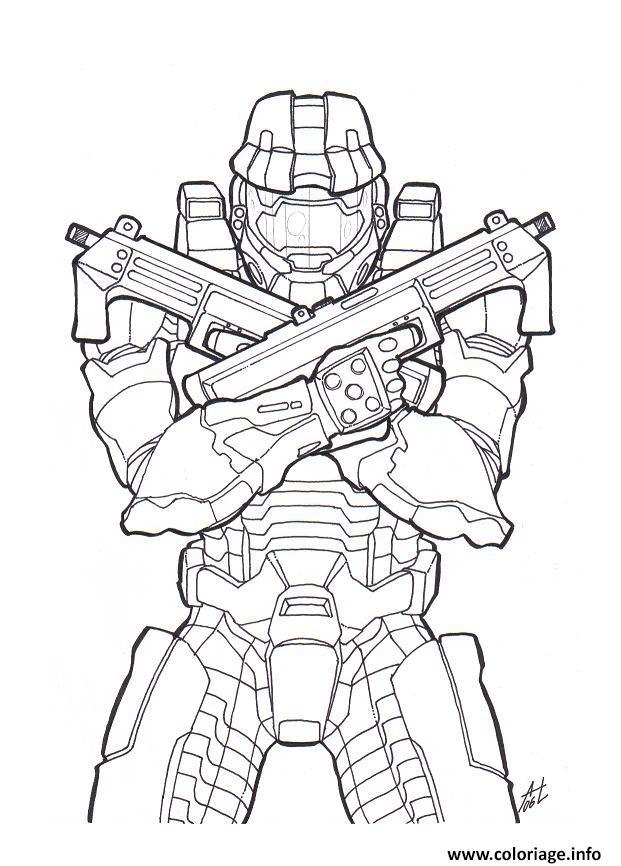 Coloriage Halo Colorier dessin