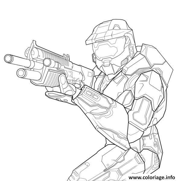 Coloriage Halo Jeu Vide Microsoft dessin