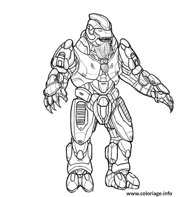 Coloriage Halo Pour Enfants dessin