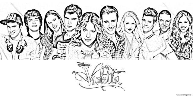 Coloriage Tous Personnages Violetta Dessin Violetta à imprimer