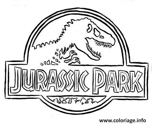 Coloriage Logo Jurassic Park Dessin