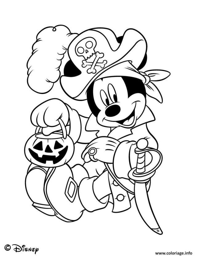 Coloriage Disney Disneyland Halloween Dessin Halloween à imprimer