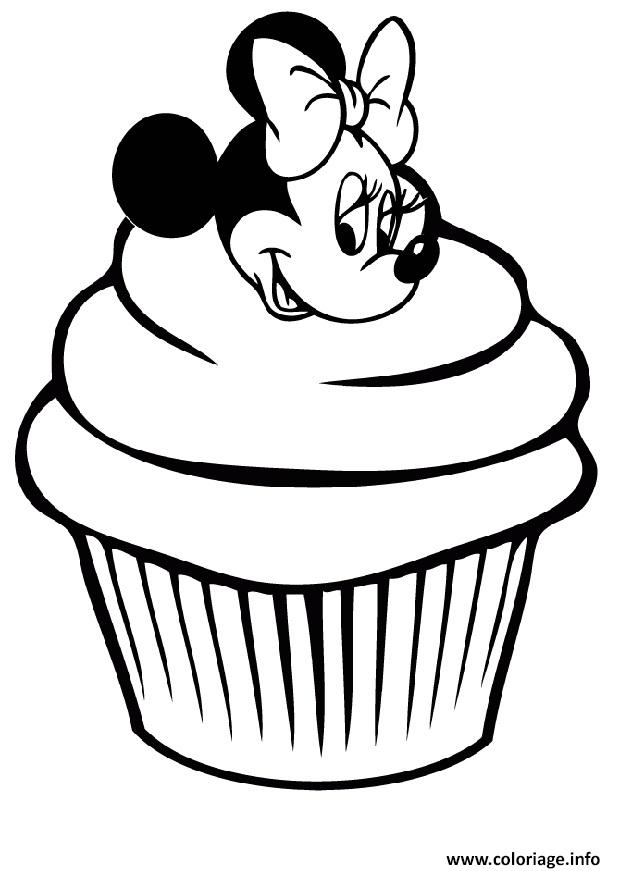 Coloriage Minnie Mouse Cupcake Disney dessin