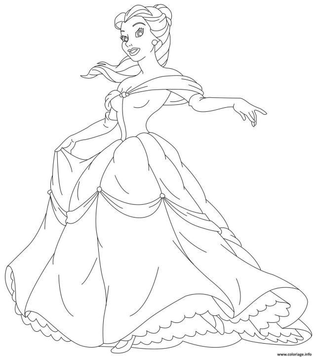 Coloriage Belle Et La Bete Princesse 27 Dessin Princesse à imprimer