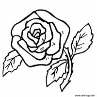 Coloriage De Rose Facile Coloriage De Rose Rouge Dessin De