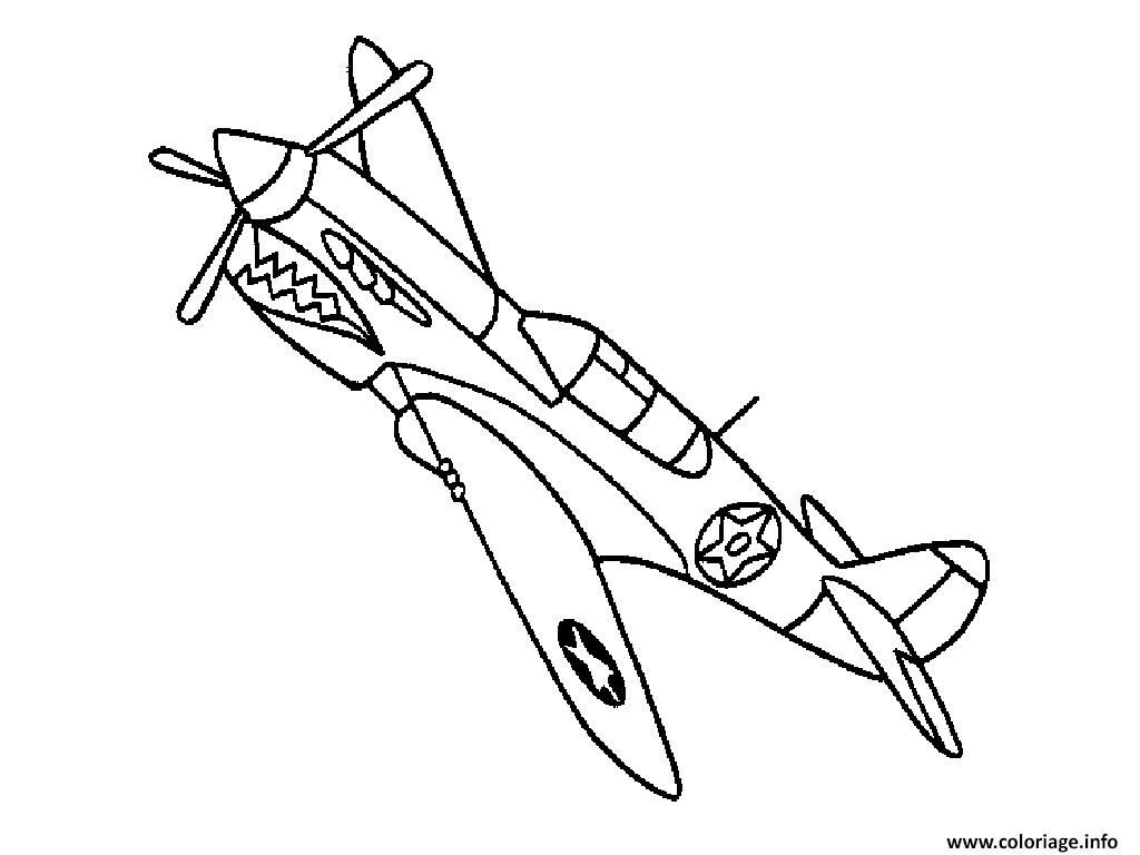 Coloriage Avion 92