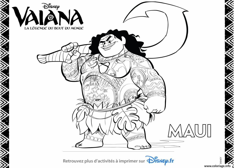 Coloriage Maui Du Film Disney Moana Dessin