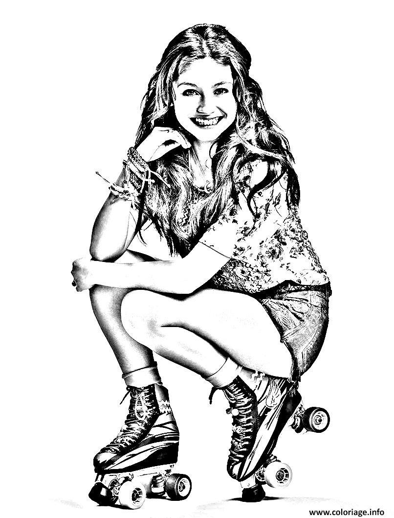 Coloriage Portrait Soy Luna Dessin A Imprimer