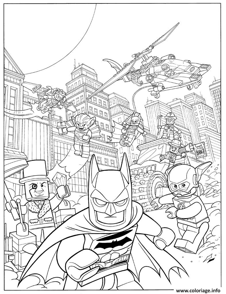 Coloriage Lego Batman Fash Action Movie 2017 dessin