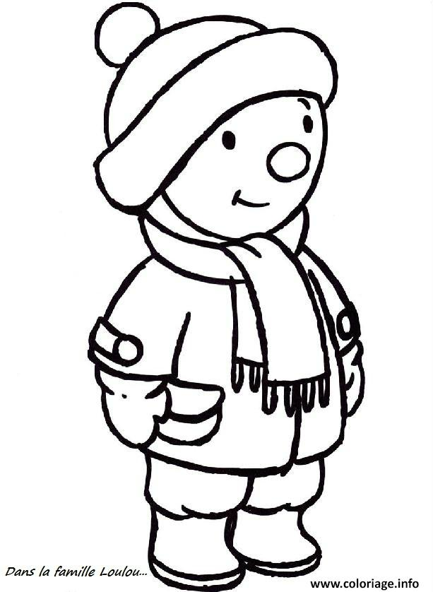 Coloriage Froid